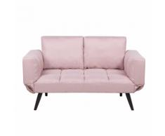 Divano letto con rivestimento rosa BREKKE