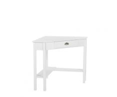 Tavolino ad angolo 80 x 70 cm bianco LACEY
