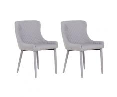 Set di 2 sedie color grigio per sala da pranzo SOLANO