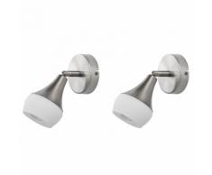 Set di 2 lampade da parete argento ANTLER I
