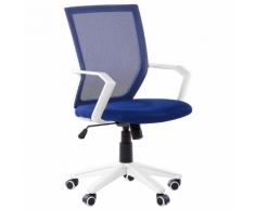 Sedia da ufficio in tessuto a rete traspirante blu scuro RELIEF