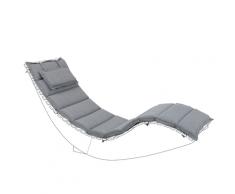 Cuscino per lettino da giardino BRESCIA grigio 180 x 60 x 5 cm