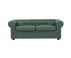 Divano vintage a 3 posti in tessuto similpelle CHESTERFIELD