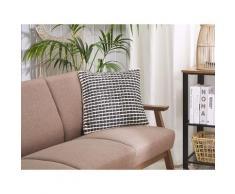 Cuscino decorativo 45 x 45 cm bianco e nero YONCALI