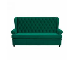 Divano letto in velluto verde MALVIK
