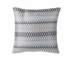 Cuscino decorativo a cerchi 45 x 45 cm grigio
