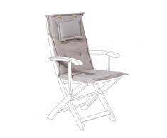 Cuscino per sedia da giardino MAUI grigio beige