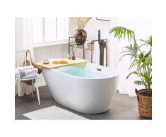 Vasca da bagno freestanding ovale bianca 170 cm CALALA