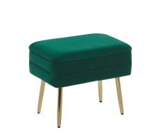 Panca con contenitore verde scuro per camera da letto ODESSA