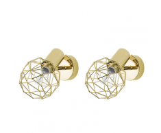 Set di 2 lampade da parete color oro CHENAB