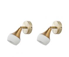 Set di 2 lampade da parete color oro ANTLER I