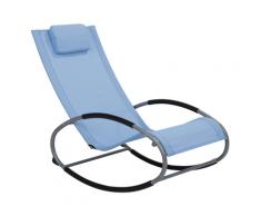 Sedia da giardino blu con funzione dondolo CAMPO