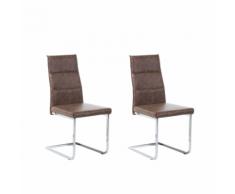Set di 2 sedie da pranzo in colore marrone ROCKFORD