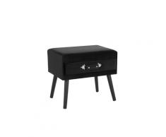 Tavolino in ecopelle nero EUROSTAR