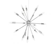 Lampadario in color argento a 18 punti luce MAGUSE