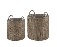 Set di 2 vasi da fiori da balcone beige sabbia BITOLA