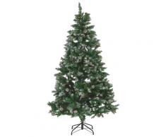 Albero di Natale innevato pre-illuminato verde 180 cm PALOMAR