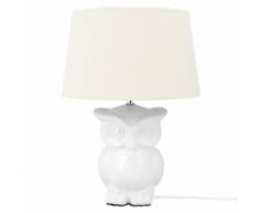 Lampada da comodino, OWL, bianco