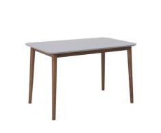 Tavolo da pranzo in legno grigio 118 x 77 cm MODESTO