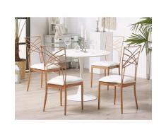 Set di 2 sedie da pranzo in oro rosa GIRARD