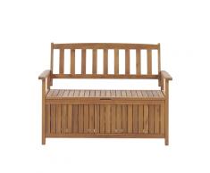 Panca da giardino in legno di acacia con vano contenitore 120 cm SOVANA
