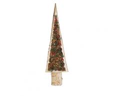 Statuetta decorativa Albero di Natale in legno chiaro TOLJA