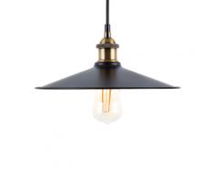 Lampadario in metallo color nero-ottone SWIFT L