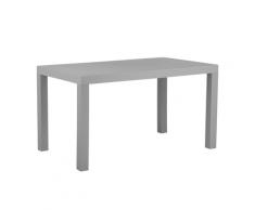 Tavolo da giardino effetto rattan grigio chiaro 140 x 80 cm FOSSANO