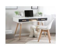 Scrivania in colore bianco/grigio 120 x 45 cm FRISCO