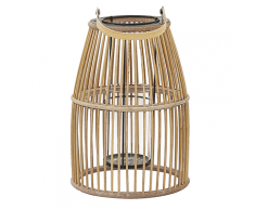Lanterna in bambù beige HOSTE