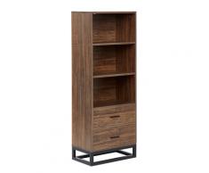 Libreria a 3 scaffali in legno scuro DELTA