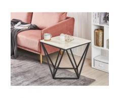 Tavolino da caffè effetto marmo e nero MALIBU