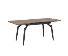 Tavolo da pranzo allungabile legno scuro / nero 140/180 x 80 cm BARBOSA