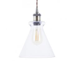 Lampadario in ottone/vetro BERGANTES