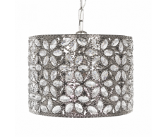 Lampadario in metallo color argento SAJO