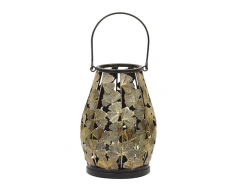 Lanterna in metallo color oro SOMERSET
