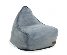 Poltrona sacco in tessuto jeans DROP
