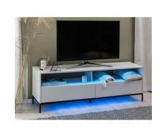 Mobile TV bianco lucido con LED SYDNEY