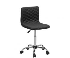 Sedia sgabello da ufficio con rotelle in colore nero ORLANDO
