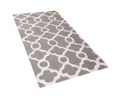 Tappeto rettangolare grigio - Tappeto moderno di design - 80x150cm - ZILE