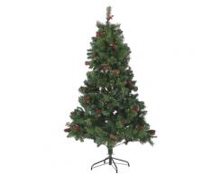 Albero di Natale pre-illuminato verde 180 cm JACINTO