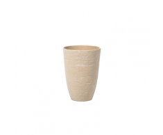 Vaso tondo per interno ed esterno beige 35x35x50cm CAMIA
