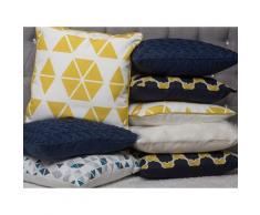 Cuscino decorativo a triangoli gialli 45 x 45 cm PANSY