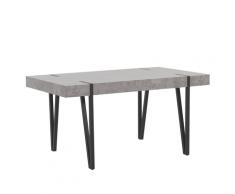 Tavolo da pranzo effetto cemento e nero 150 x 90 cm ADENA