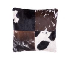 Cuscino decorativo in pelle bovina 45 x 45 cm marrone scuro MARADY
