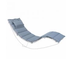Cuscino per lettino da giardino BRESCIA blu 180 x 60 x 5 cm