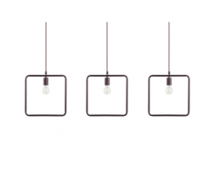 Set di 3 lampade a sospensione marrone LERMA