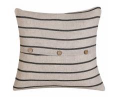 Cuscino decorativo 45 x 45 cm beige e nero CYNARA