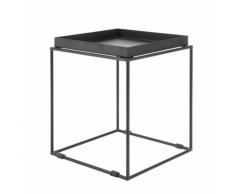 Tavolino moderno in metallo nero SAXON