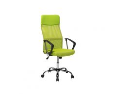 Sedia da ufficio con altezza regolabile verde DESIGN